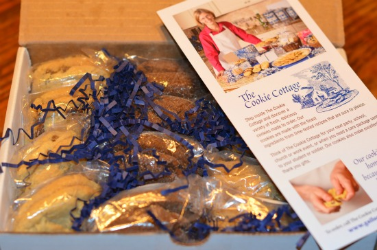 Box of Cooke Cottage cookies