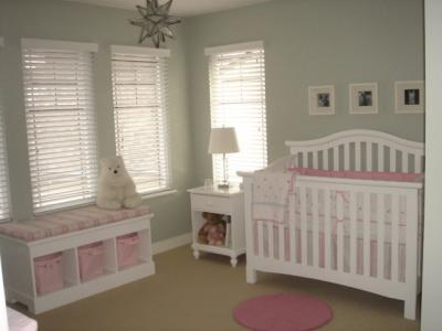 Baby Room Ideas on Puppy Baby Nursery Theme With Stripes And Polka Dots 21358534