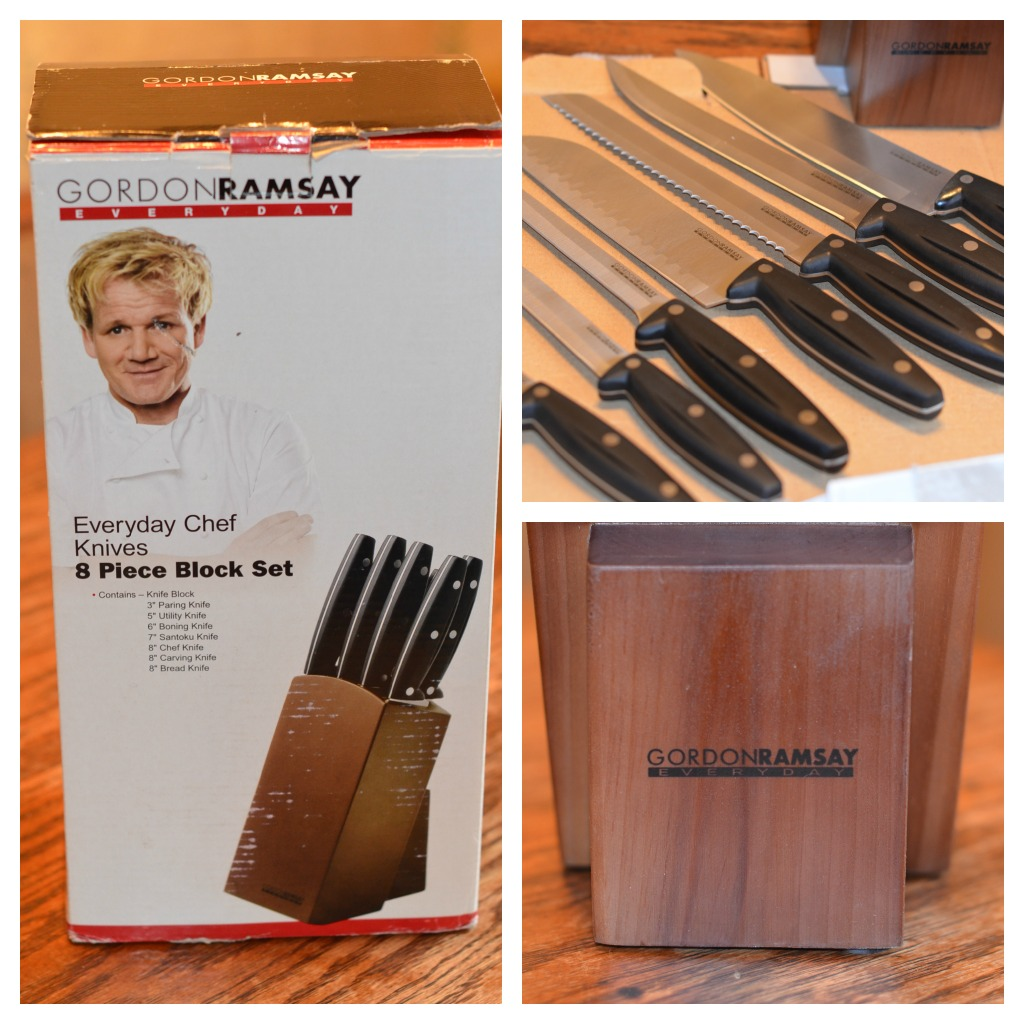 gordon ramsay everyday chef knives 8 piece block set review mom 39 s blog. Black Bedroom Furniture Sets. Home Design Ideas