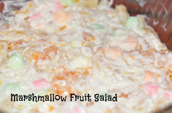 fruit salad with marshmallows is a pepper a fruit