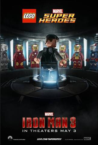 Marvel Iron Man 3 Lego Poster