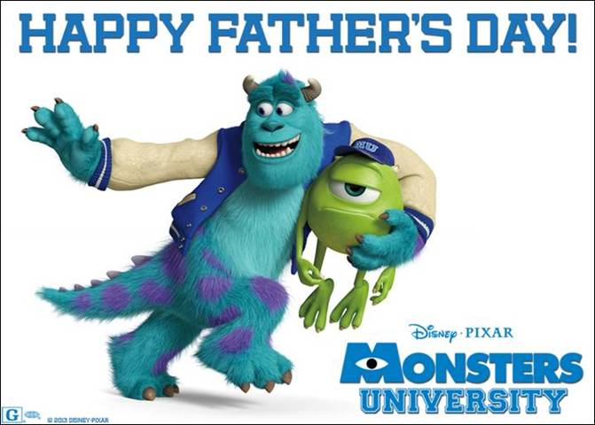 Happy Fathers Day Monsters University