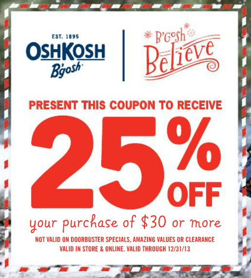 photograph regarding Osh Coupons Printable identify Osh kosh bgosh discount codes printable / My coupon genie inc