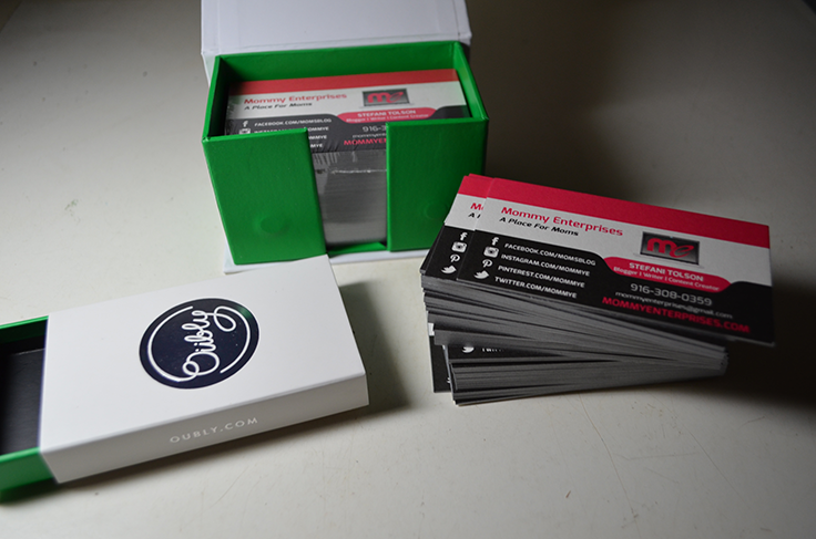 Oubly Business Cards in Box