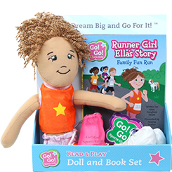 Ella Runner Girl - Read & Play Doll Set