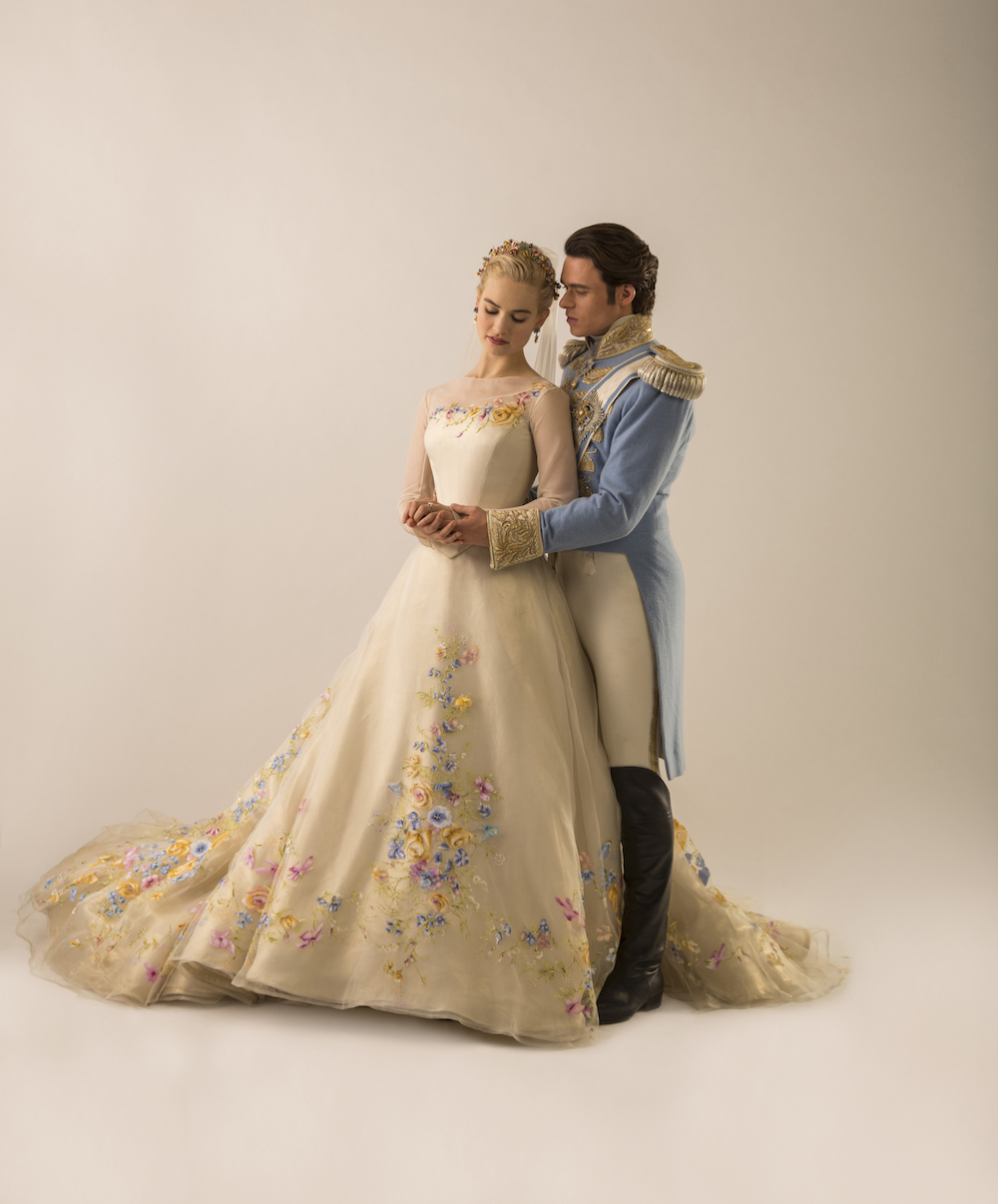 interview with sandy powell cinderella wedding dress costume CINDERELLA