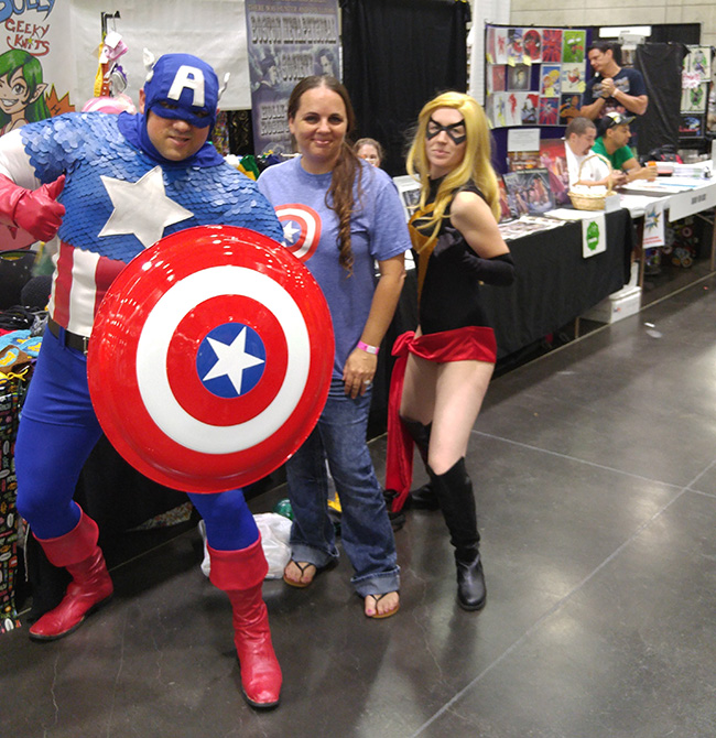 Captain America at Wizard World Comic Con Sacramento