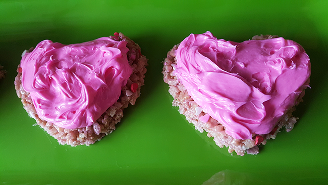 Valentines Day Rice Krispies Hearts
