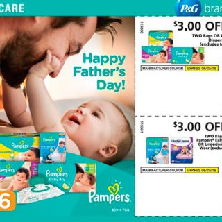 Pampers coupons in Sunday paper