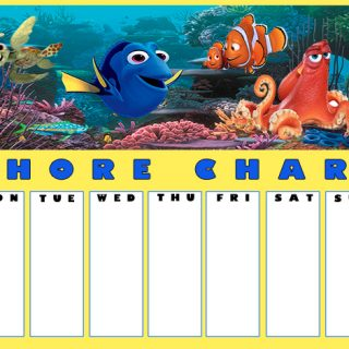 Printable Finding Dory Chore Chart