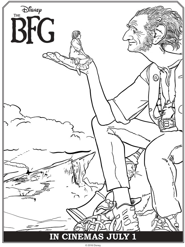 Disney S The Bfg Coloring Pages Activities Thebfg Roald Dahl Colouring Pages