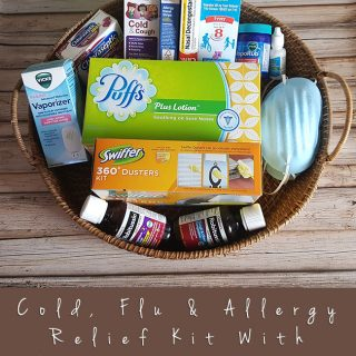 Cold, Flu & Allergy Relief Kit With Puffs Plus Lotion