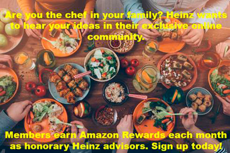 Become A Honorary Heinz Advisor & Earn Amazon Gift Codes