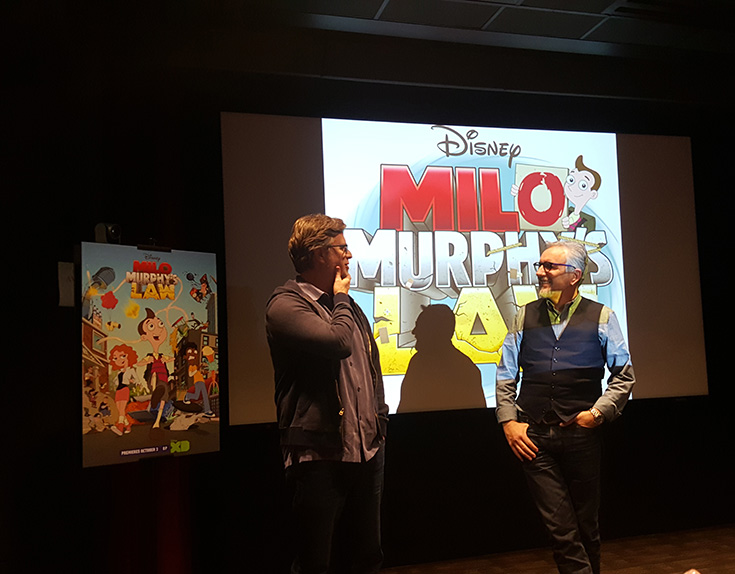 "Milo Murphy's Law Creators Dan Povenmire and Jeff ""Swampy' Marsh"