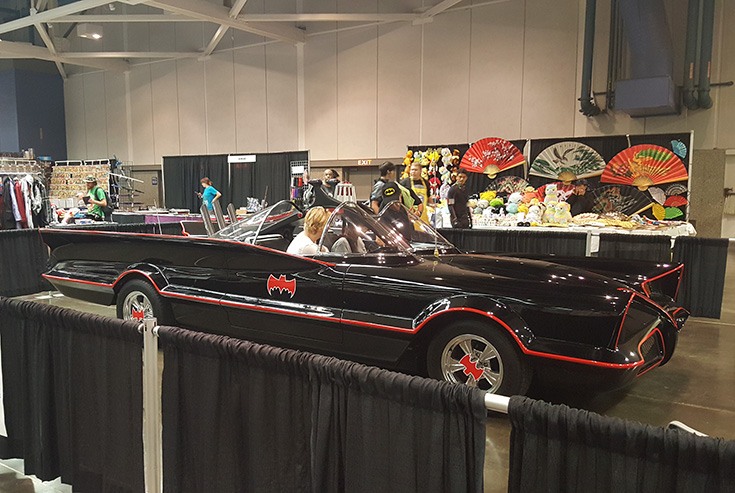 Batmobile Wizard World Comic Con