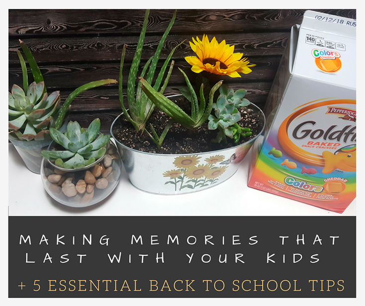 Making Memories That Last With Your Kids + 5 Essential Back To School Tips For Parents #GoldFishMoments
