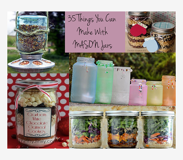 35 Things You Can Do WIth Mason Jars