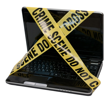Crime Scene Laptop