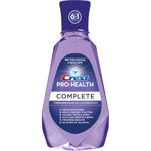 Crest Pro-Health Advanced mouthwash, when used in addition to toothpaste and floss, can provide additional protection against cavities and help strengthen tooth enamel. Mouthwash can reach areas that normal brushing may miss.