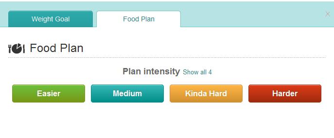 Screenshot of Meal Plan on Fitbit.com