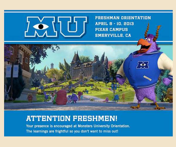 Monsters Inc University Invitation Image