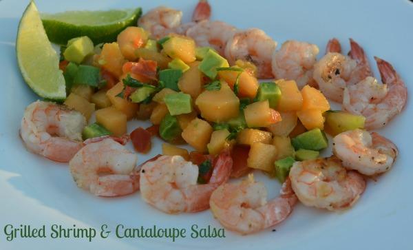 Grilled Shrimp & Cantaloupe Salsa