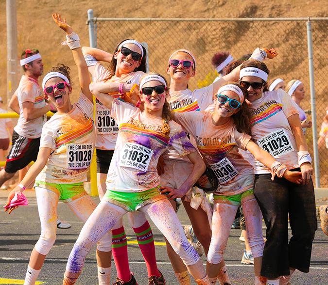 The Color Run participants