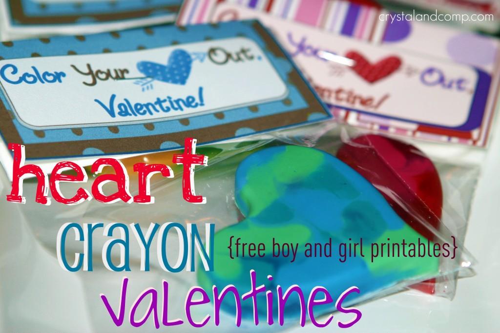 Heart Crayon Valentines