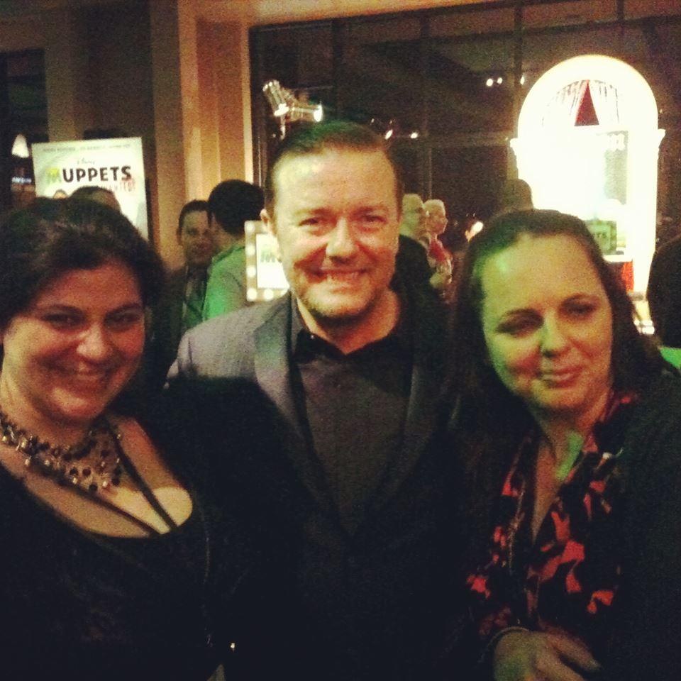 Ricky Gervais & Stefani Tolson #MuppetsMostWanted