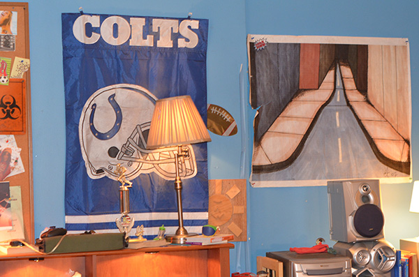 Axl's room in the set of The Middle #ABCTVEvent