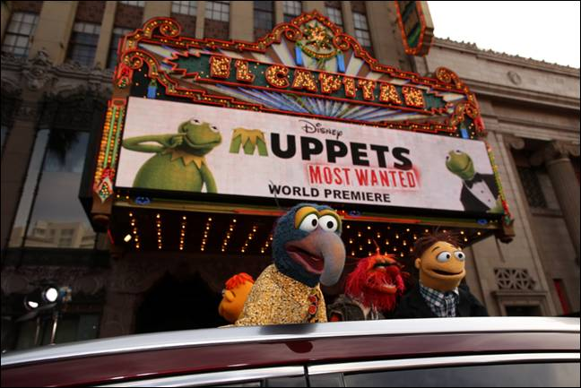 Gonzo Animal Muppets Most Wanted Premiere