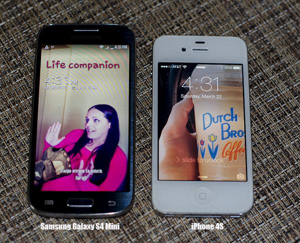Samsung Galaxy S4 Mini vs iPhone 4S