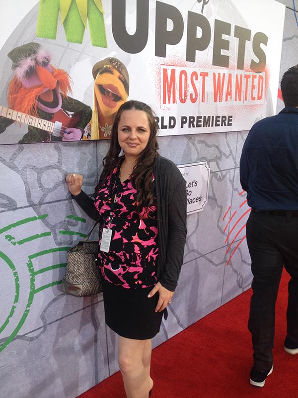 Stefani Tolson Red Carpet Mupets Most Wanted - #MuppetsMostWantedEvent