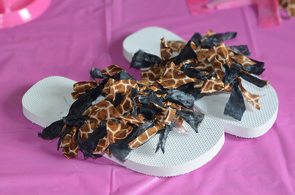 Giraffe Fluffy Flip Flops - #MySecretParty