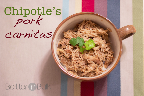 Chipotle's Pork Carnitas Copycat Recipe
