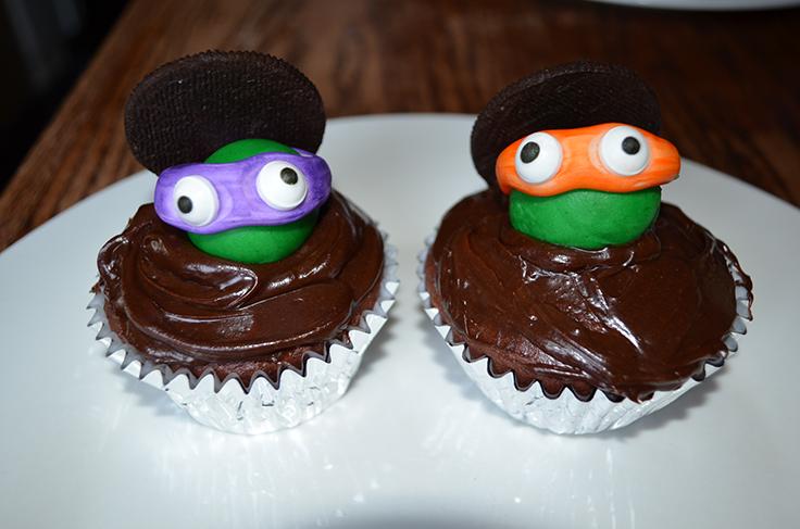 Teenage Mutant Ninja Turtle Cupcakes #TMNT