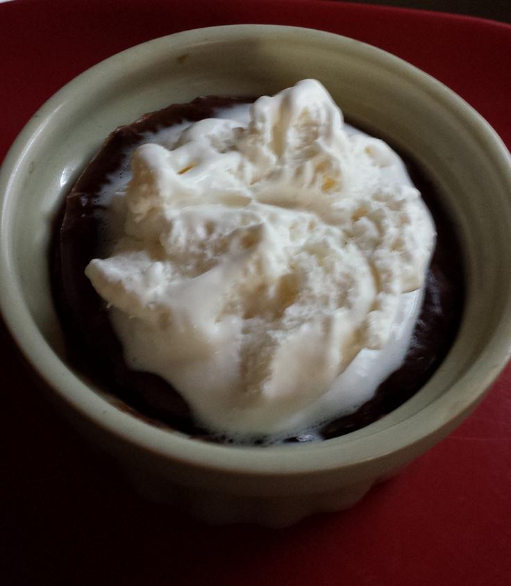 Brownie in ramekin made in airfryer