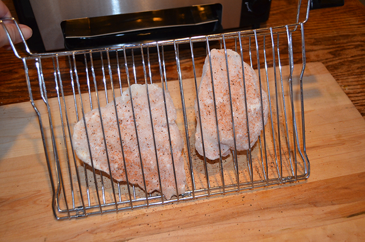 Chicken breasts in Ronco Ready Grill basket