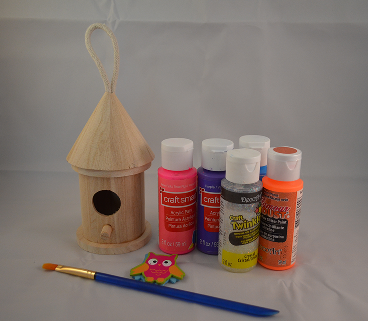 Princess birdhouse supplies