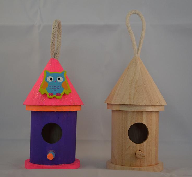 DIY Painted Princess Birdhouse