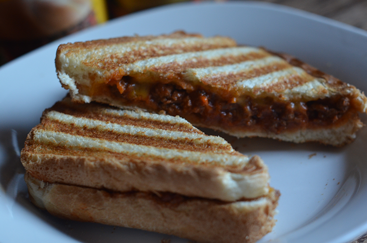 Grilled Sloppy Joe Paninis with Manwich