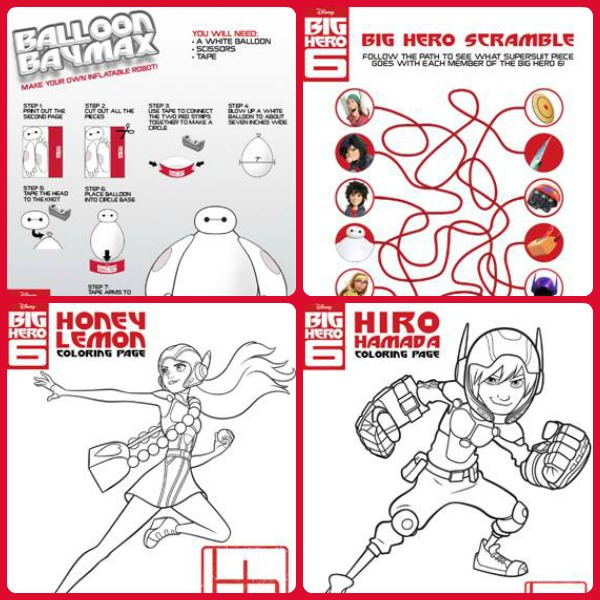 Disney Big Hero 6 Coloring Pages & Activities