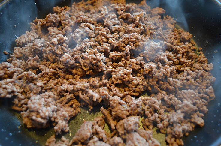 ground beef - browned