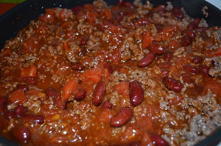 Chili - McCormick Fire Roasted Garlic Skillet Sauce