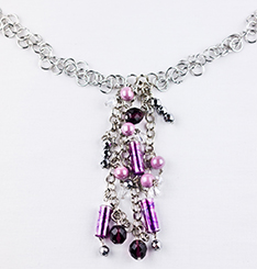 Vi Bella-Orchid Necklace