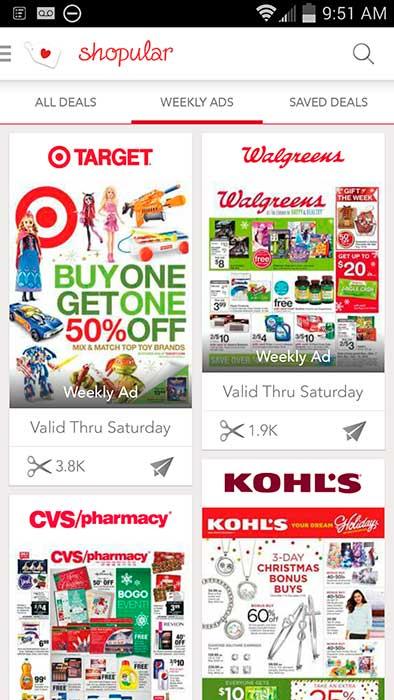 Shopular app - weekly ads