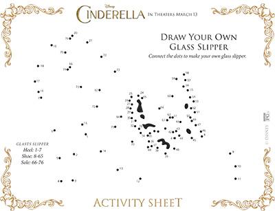 Cinderella Dot To Dot Activity Sheet
