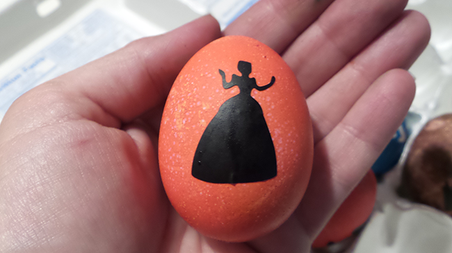 Cinderella Silhouette Easter Egg