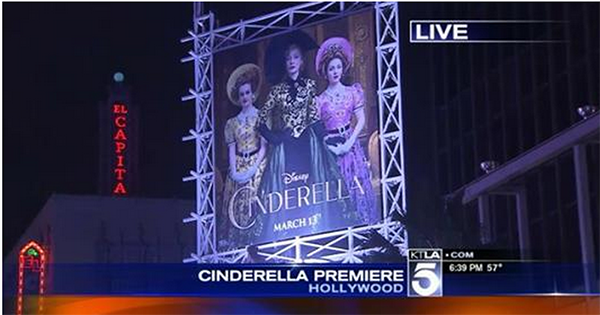 Stars Turn Out for 'Cinderella' Premiere in Hollywood