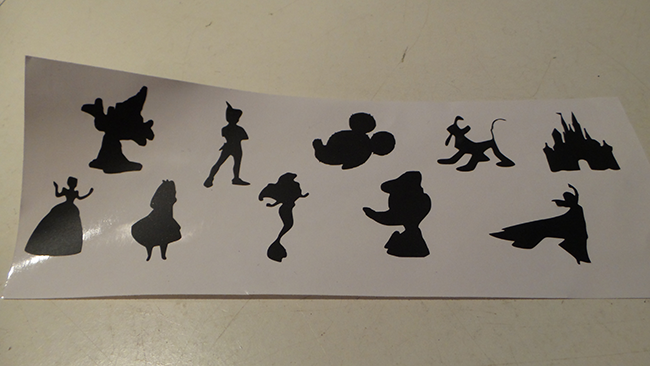 Disney Silhouette Vinyl Design